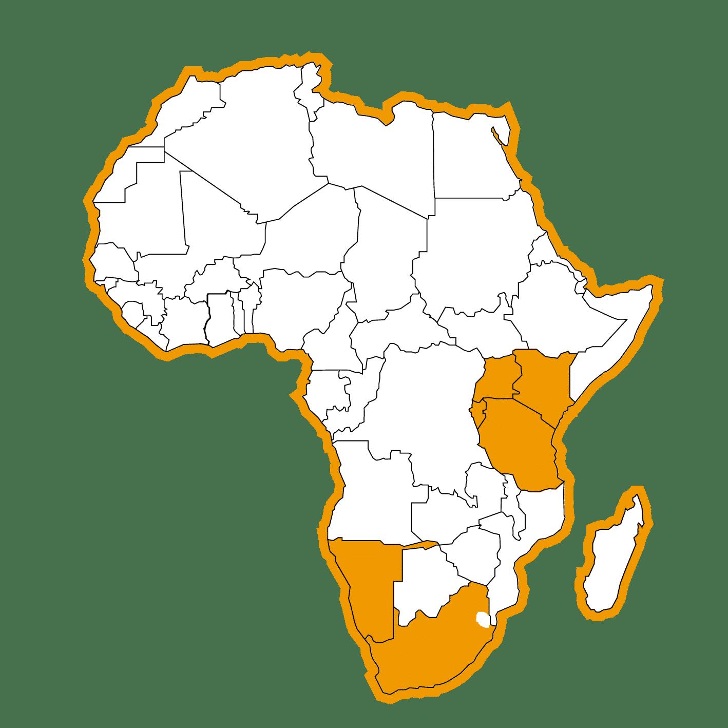 Bestemmingen-Afrika-Map-Meerdere-Landen