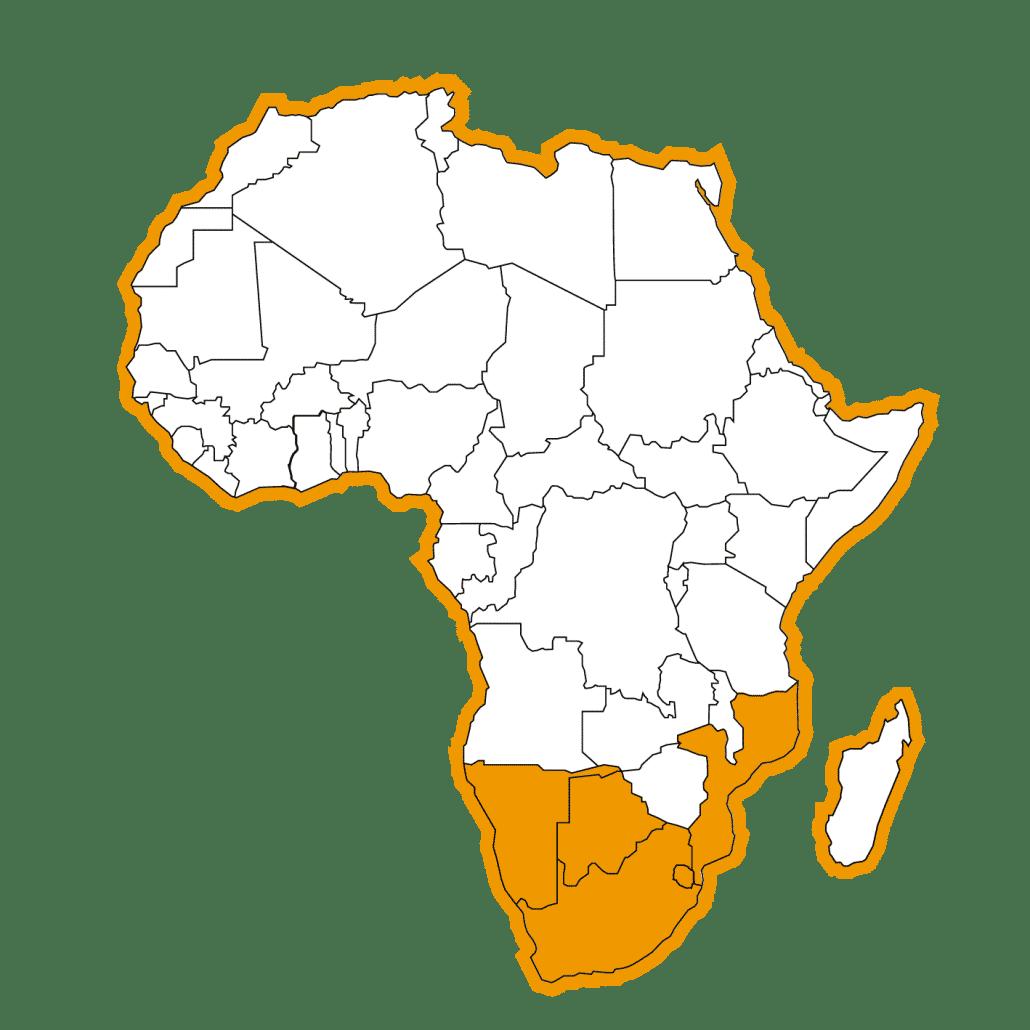 Afrika Map Zuiden