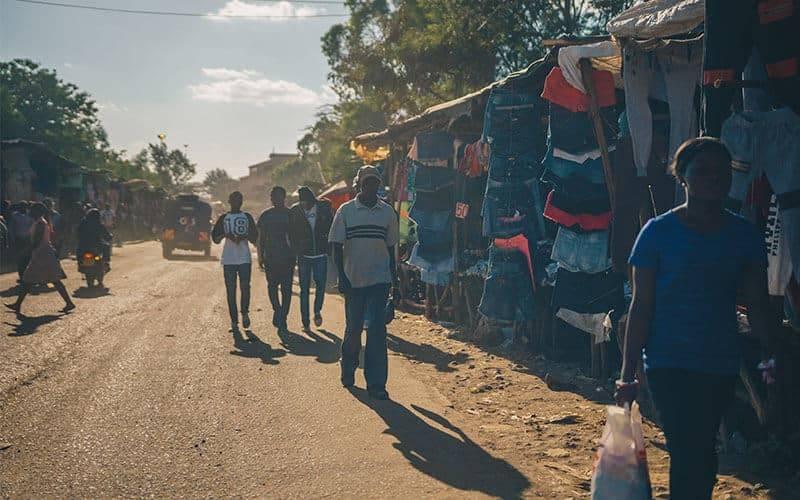 People walking Nairobi