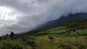 Vulkanen Bergen Hiken Groen
