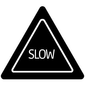 """Icoontje verkeersbord met """"slow"""""""