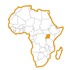 Bestemmingen Afrika Map Oeganda