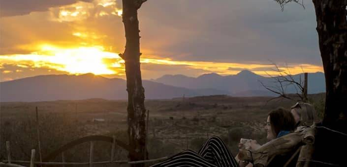 Sunset Karoo Zuid Afrika