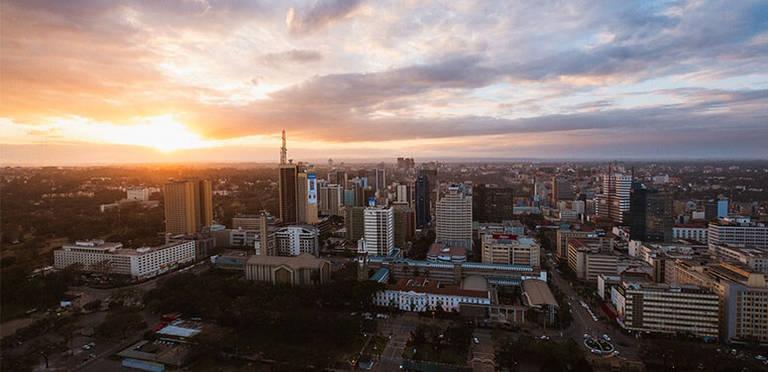 uitzicht op Nairobi vanuit KICC